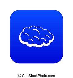 Cloud icon digital blue