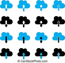 Cloud Icon Download Upload Symbol