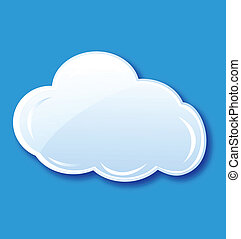 Cloud icon element vector