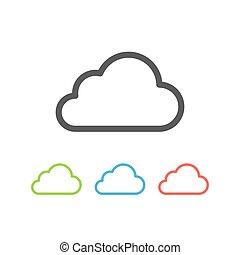 Cloud icon flat line.