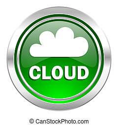 cloud icon, green button