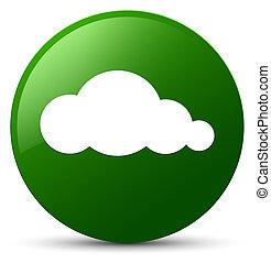 Cloud icon green round button