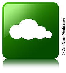 Cloud icon green square button