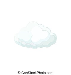 Cloud icon in cartoon style