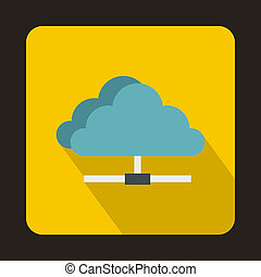Cloud icon in flat style