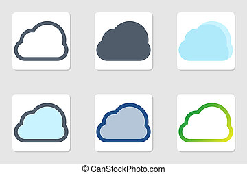 cloud icon in isolated on white background. for your web site design, logo, app, UI. Vector graphics illustration and editable stroke. EPS 10.