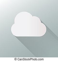 cloud icon isolated on background. Cloud flat illustration vector. eps10 format.