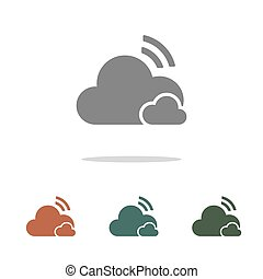 cloud icon isolated on white background