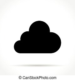 cloud icon on white background