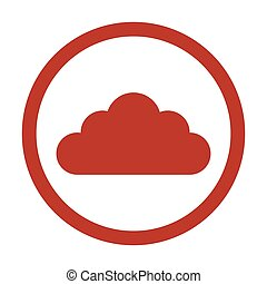 cloud icon on white background.