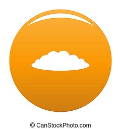 Cloud icon orange