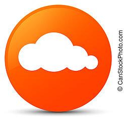Cloud icon orange round button