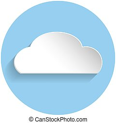Cloud icon, paper style