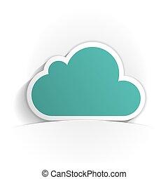 cloud icon paper