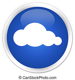 Cloud icon premium blue round button