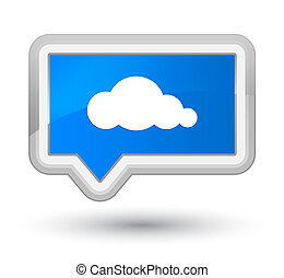 Cloud icon prime cyan blue banner button