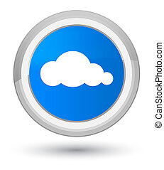 Cloud icon prime cyan blue round button