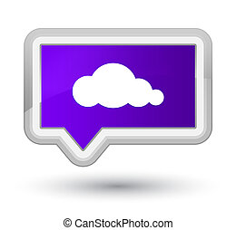 Cloud icon prime purple banner button
