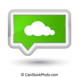 Cloud icon prime soft green banner button