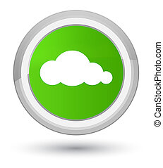 Cloud icon prime soft green round button