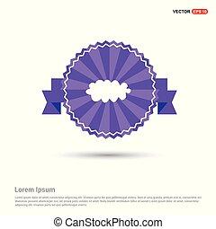 cloud Icon - Purple Ribbon banner