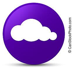 Cloud icon purple round button