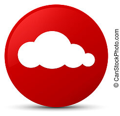 Cloud icon red round button
