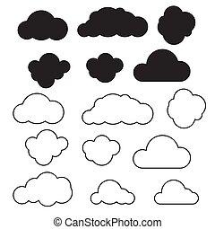 Cloud icon set vector.