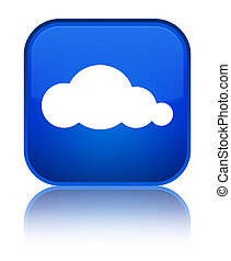 Cloud icon special blue square button