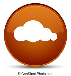 Cloud icon special brown round button