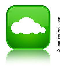 Cloud icon special green square button