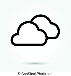 cloud icon,  vector illustration. Flat design style on white background