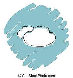 Cloud icon vector illustration on blue background