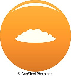 Cloud icon vector orange