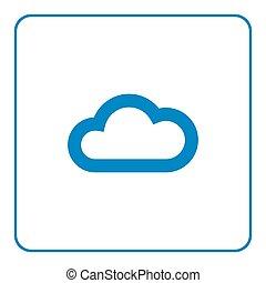 Cloud icon Web cartoon sign