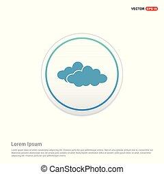 cloud Icon - white circle button
