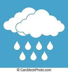 Cloud icon white