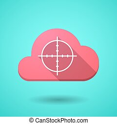 Cloud icon with a crosshair