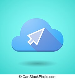 Cloud icon with a cursor