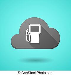 Cloud icon with a gas station