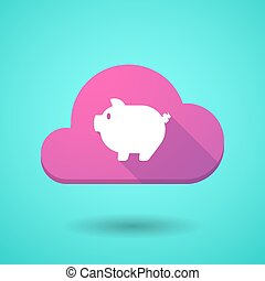 Cloud icon with a pig