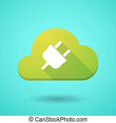 Cloud icon with a plug