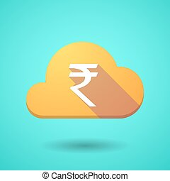 Cloud icon with a rupee sign