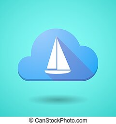 Cloud icon with a ship