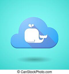 Cloud icon with a whale