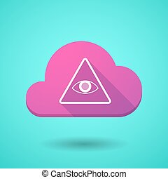 Cloud icon with an all seeing eye