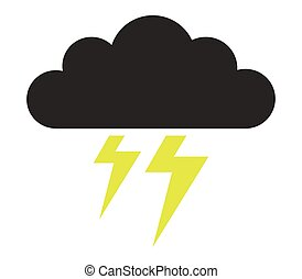 Cloud icon with lightning