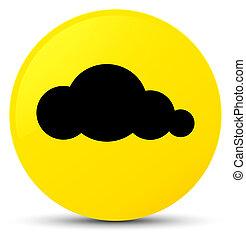 Cloud icon yellow round button
