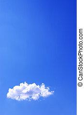 Cloud in a sky