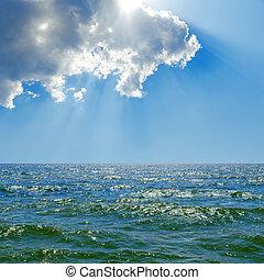 cloud in blue sky over sea